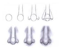 printable drawing tips, realistic nose - Google Search