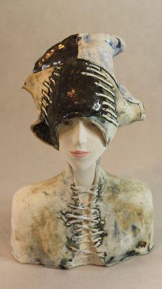 ImagoArtDesign by ImagoArtDesign Ceramic Figures, Ceramic Art, Sculpture Head, Sculptures, Kintsugi, Christmas Yard Art, Different Kinds Of Art, Ikebana, Art Corner