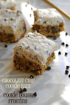 Chocolate Chip Cookie Bars with Cookie Dough Frosting   The Domestic Rebel