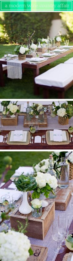 Backyard modern wine country dinner party | Chic Fashion Pins : The Cutest Pins Around!!!