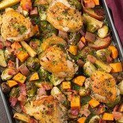 One Pan Autumn Chicken Dinner - Cooking Classy Soup Recipes, Chicken Recipes, Cooking Recipes, Healthy Recipes, Chicken Meals, Fun Cooking, Yummy Recipes, Healthy Food, Healthy Eating