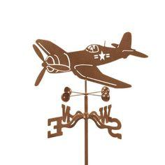 Corsair Airplane Garden Stake Weathervane