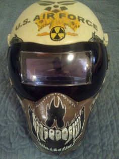 My Welding hood, a Bit of a Military, Theme to it.