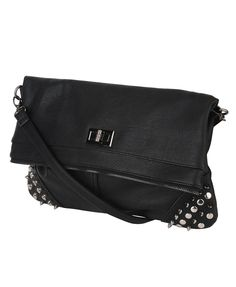 Studded Foldover Crossbody