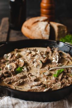 ** Did this with 2 cans beef broth and about c red wine. Best Beef Stroganoff - We made this recipe today, Nov 2014 and it is easy and fabulous! We used elk tenderloin and nonfat Greek yogurt! No GMOs or HMOs or anything else for that matter! Elk Recipes, Slow Cooker Recipes, Dinner Recipes, Cooking Recipes, Canadian Recipes, Game Recipes, Bread Recipes, Cooking Tips, Holiday Recipes