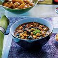 Spicy red lentils with swiss chard! Perfect for a warm, wonderful soup!