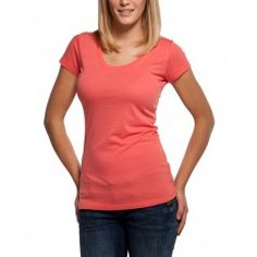 Bamboo Scoop Tee - Coral | a more eco-friendly t-shirt