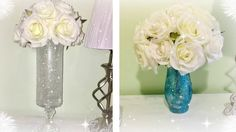 DIY Glamorous Wedding Centerpiece Tall vase dollar tree deals.