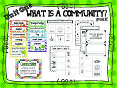 2nd Grade Social Studies - Unit 1 What is a Community? Pack (Vocabulary, Activities, Printables) - TpT