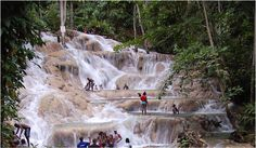 Dunn's River Falls is one of Jamaica's national treasures.  It is truly one of the most beautiful spots on the island. http://www.dunnsriverfallsja.com/