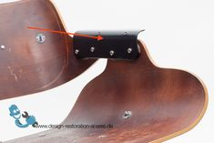 Pair of Eames Lounge Seat to Back Shell Connecting Angle Plate Charles Eames, Lounge Seating, 2020 Design, Take A Seat, Industrial Design, Diy And Crafts, Restoration, Shells, Upholstery