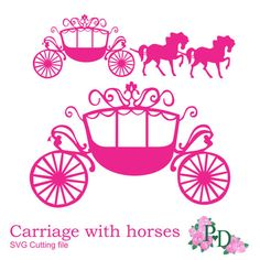 SVG DXF PNG Princess Carriage horse Cutting file digital instant download Cinderella die cut Silhouette Cameo template EasyCutPrintPD by EasyCutPrintPD on Etsy https://www.etsy.com/uk/listing/212112418/svg-dxf-png-princess-carriage-horse