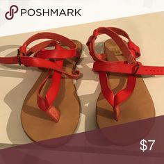 URBAN OUTFITTERS: red gladiator sandals We who see brand strappy red gladiator sandals Urban Outfitters Shoes Sandals