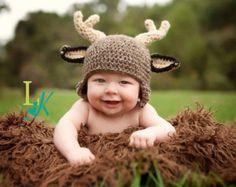 Crochet Buck Deer Hat by MadeWithLoveCba on Etsy