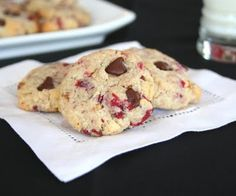 Cranberry Walnut Chocolate Chip Cookies (Low Carb and Gluten Free) | All Day I Dream About Food