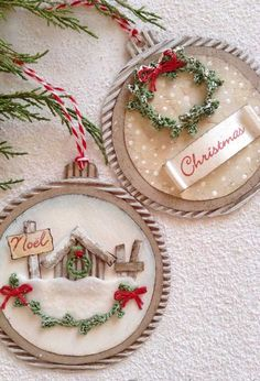 26 Rustic DIY Christmas Ornaments to Create an Ambiance of Warmth - The Trending House Handmade Christmas Decorations, Christmas Gift Tags, Felt Christmas, Rustic Christmas, Xmas Decorations, Diy Christmas Ornaments, Holiday Crafts, Dog Ornaments, Christmas Wreaths