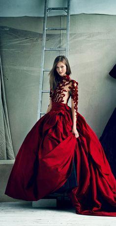 Karlie Kloss in Marchesa for Vogue