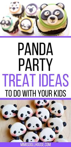 Want some yummy and adorable Panda desserts for your next party?  Check out these DIY Panda cookies and Easy Panda Cupcakes!  These panda desserts are perfect for a panda party or for a zoo themed party.  They are easy royal icing sugar cookies and fondant cupcakes toppers.  #party #panda #birthday #kids Girl Birthday Decorations, Girls Birthday Party Themes, Girl Parties, Birthday Desserts, Party Desserts, Birthday Parties, Panda Birthday, Birthday Kids, Tiger Cookies