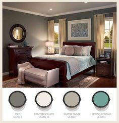 65 Ideas For Recessed Lighting Ideas Bedroom Color Schemes Bedroom Color Schemes, Bedroom Paint Colors, Paint Colors For Home, House Colors, Paint Schemes, Spa Bedroom, Master Bedroom, Bedroom Decor, Behr Colors