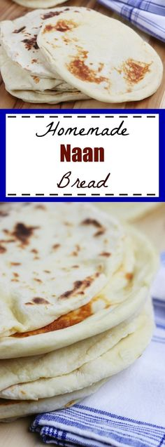 Homemade Naan recipe- Learn the basics of making Homemade Naan, an easy & fluffy skillet bread that goes perfectly with Indian dishes or can be used to make pizza. http://www.thefedupfoodie.com