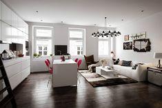 Skandináv lakberendezés a nappaliban