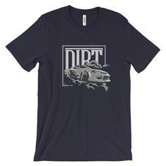 Dirt Car Racing T-Shirt in white