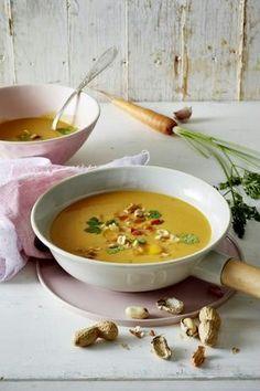 Das Rezept für Möhren-Erdnuss-Suppe und weitere kostenlose Rezepte auf LECKER.de