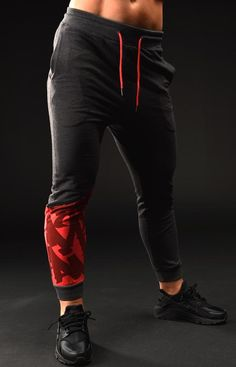 830cd33ac6ca PRO.FORM JOGGERS black red small Gym Outfits
