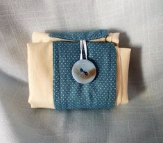Folding Shopping Bag with Blue Band Folding Shopping Bags, Blue Band, Folded Up, Thank You Gifts, Small Gifts, Cotton Fabric, Coin Purse, Purses, Etsy