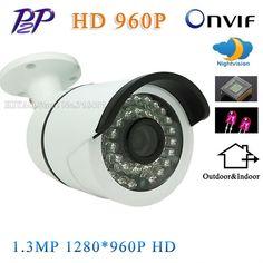 43.70$  Watch here - http://alinv6.shopchina.info/go.php?t=32732552263 - NEW Original Aluminum Metal Waterproof Outdoor Bullet IP Camera 720P 960P Security Camera CCTV 36PCS LED  ONVIF Camera IP  #aliexpresschina