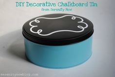 Repurposing cookie tins.