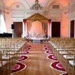 Indian wedding ceremony set-up