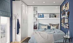 Quarto de Casal Modulado Completo com 4 Módulos Branco - Caaza | Lojas KD