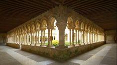 Vista del claustro del Monasterio de San Andrés de Arroyo © Junta de Castilla y León