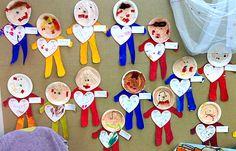 Painel do dia dos pais para maternal com pratinhos | Pra Gente Miúda