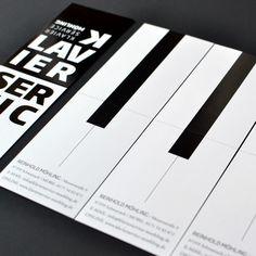 Corporate design for piano service corporation.