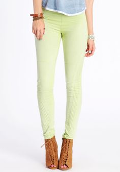 Green tea colored leggings.