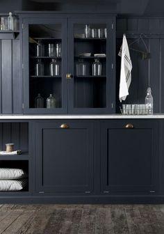 Dark Navy Blue Kitchen Cupboards | Kitchen