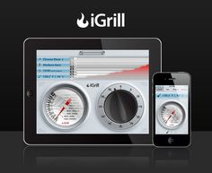 iGrill is a meat thermometer that wirelessly communicates with your smart device.