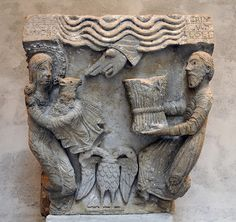 Capital of Pilaster from Moutiers-Saint-Jean, Fogg Art Museum, Harvard by renzodionigi, via Flickr