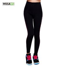 WOSAWE Bicycle Cycling Pants Tights Sportswear Women's Bike ciclismo Cycling Riding Clothing Padded Full Length Pants Trousers