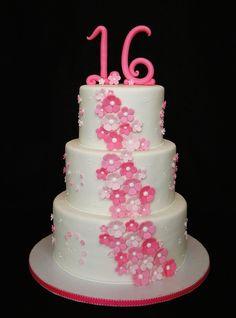 Pretty n Pink Sweet 16 cake
