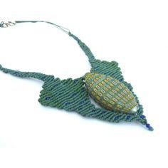 Green Murano necklace nr. 633 | Ifat Nesher