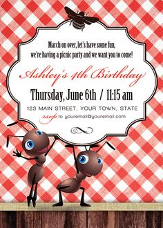 Picnic Invitation by PeaSizeDesign on Etsy