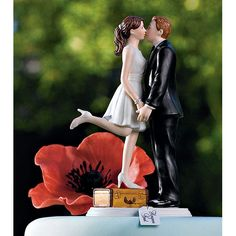 Wedding Cake Topper A Kiss and We\'re off Honeymoon Cake Tops OMG, i am so gonna need this!!