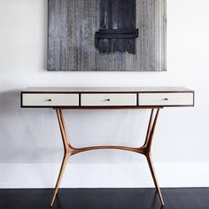#Console by Guiseppe Scapinelli. Contemporary Room by Christopher Coleman Interior Design