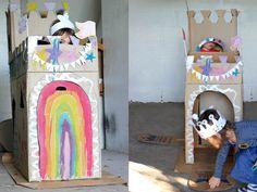 mima + moo : cardboard box : castle