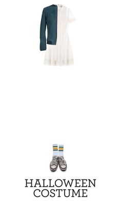 """Untitled #528"" by adaylateabuckshort ❤ liked on Polyvore featuring RED Valentino, Converse, Mauro Grifoni, halloweencostume and DIYHalloween"