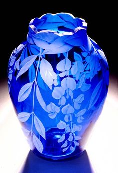 Wisteria Blossoms art glass by Cynthia Myers mr