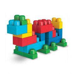 MEGA BLOKS First Builders 8001 Deluxe Building Bag Alphabet Stamps, Wooden Alphabet, Toddler Arts And Crafts, Crafts For Kids, Toddler Learning, Toddler Preschool, Lego Building, Building Ideas, Tangram Puzzles